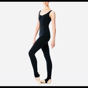 NWT Lulli Dancewear Zoe V-neck Long Unitard XS